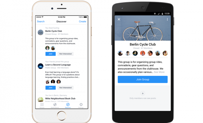 Facebook Gruplar Uygulaması Kullanımda