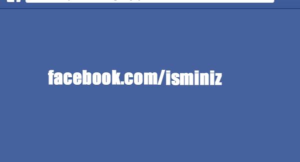 Facebook Özel Url Oluşturma
