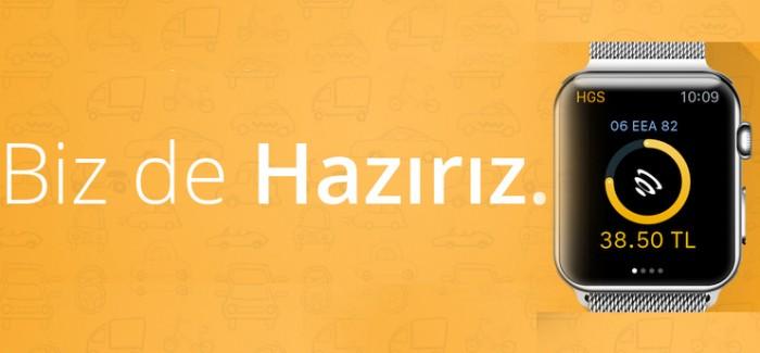 PTT'den, Apple Watch İçin HGS uygulaması