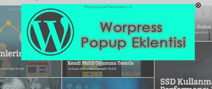 WordPress Popup Eklentisi