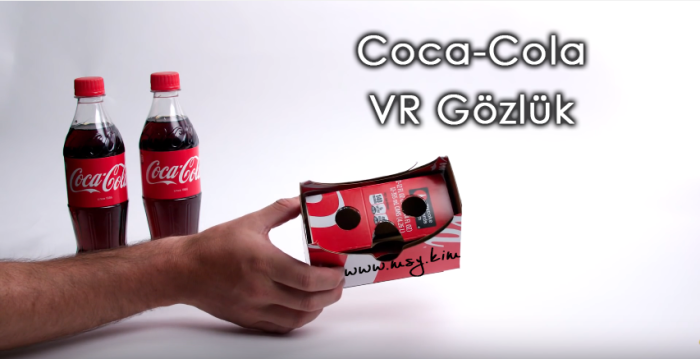 Coca-Cola Kartonlarını Sanal Gerçeklik Gözlüğüne Çeviriyor