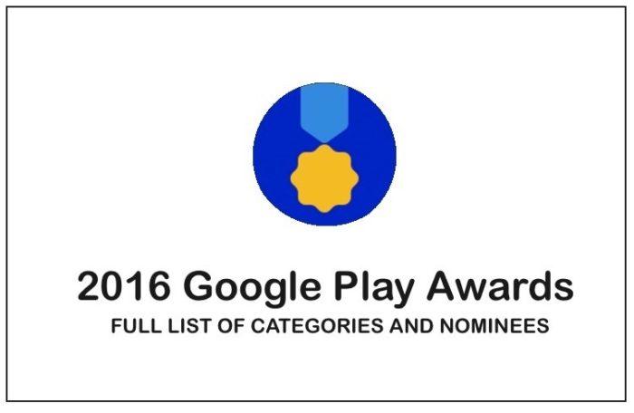 Google Play Ödülleri İçin Adaylar Belli