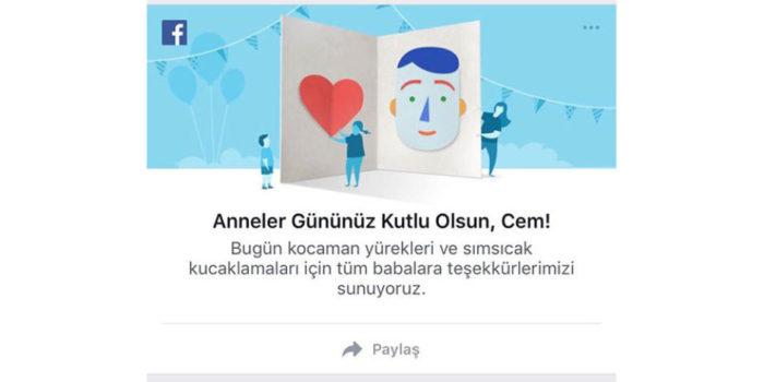 Facebook, Babaların Anneler Gününü Kutladı