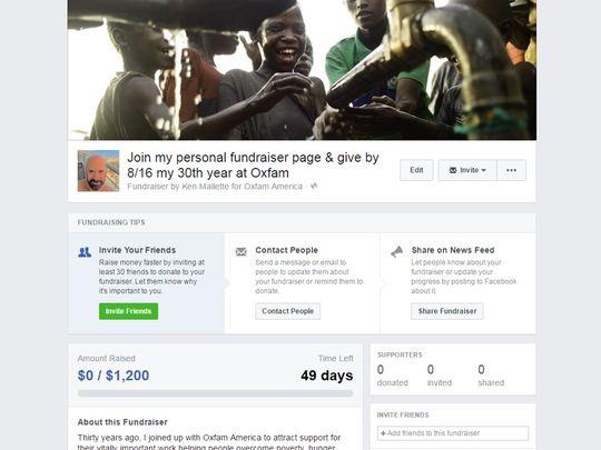 facebook bağış